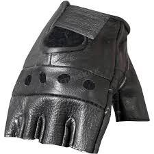 hot leathers fingerless leather gloves gvm1004m