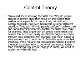 unit sociological theories of crime control theory