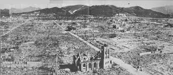 then and now nagasaki on this spot a dazed survivor in hiroshima in front of the only building near the