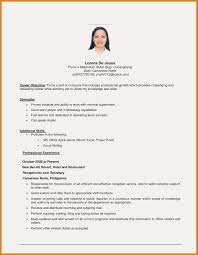 Resume Examples Objectives Enchanting Example Of Objective In Resume For Ojt Free Resume Examples