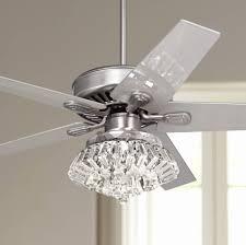 ceiling fan with chandelier light kit luxury 52 windstar ii steel crystal light kit ceiling