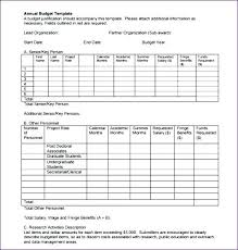 simple annual budget template operational budget template