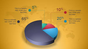 Powerpoint Pie Chart Animation Creative 3d Perspective Pie Chart For Powerpoint Slidemodel