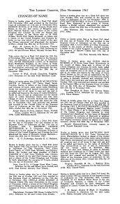 THE LONDON GAZETTE, 22ND NOVEMBER 1963 9577 CHANGES OF NAME