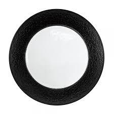 colored rim black rim glass charger plate
