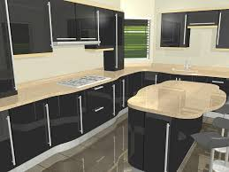 Modern Kitchen Cabinets Design Ideas Extraordinary Contemporary Black High Gloss Curves With Sharp Decoration Ipc48