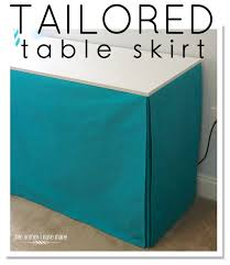 tutorial on how to skirt a table - the easy ways! Tailored Table Skirt from