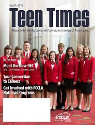 Teen Times Sept/Oct 2018 by FCCLA - issuu