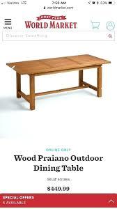world market c table world market outdoor dining table world market outdoor dining table new in