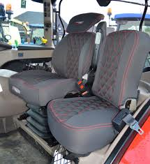 fully tailored case ih tractor seat covers for grammar seat side seat