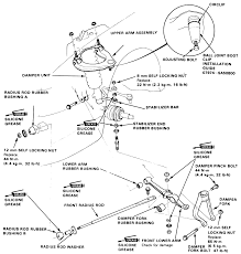 1 exploded view of front suspension ponents 1988 91 models