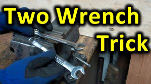 Two Wrench Leverage Trick Using 2 wrenches to increase leverage