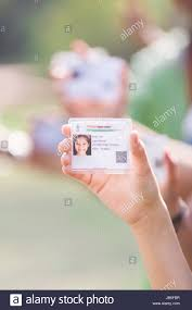 Proof - Stock Showing Indian Photo Hand Alamy Girl Card Id Part Government 144587963 Of Aadhaar