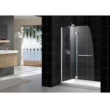 frameless clear glass dreamline shower door for modern bathroom