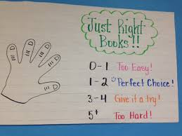Just Right Book Chart Anchor Charts Ms Newby