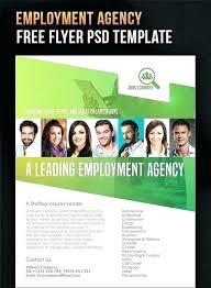 Recruitment Brochure Template Job Flyer Template Free Employment Agency Design Stuff Ideas