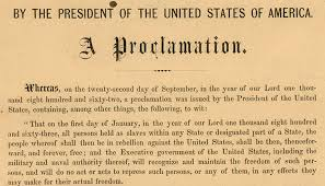emancipation proclamation the shout heard round the world  a detail from a rare original copy of president abraham lincoln s emancipation proclamation