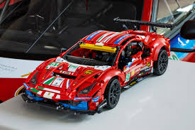 Lego technic has imagined a bright red model of the ferrari 488 gte af corse #51. Lego Technic Ferrari 488 Gte Af Corse 51 Model Hypebeast