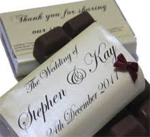 bow design wedding chocolate
