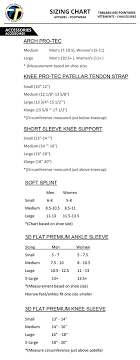 Knee Brace Size Chart Protec 3d Flat Premium Knee Support 3d Knee Slv