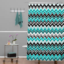 Decorative Turquoise Shower Curtain The Homy Design Black And Turquoise Shower Curtain