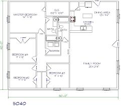 metal house floor plans. Exellent House 4 Bed 2 Bath  50u0027x40u0027 2000 Sq Ft Throughout Metal House Floor Plans H