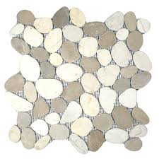 our stone mosaic is also a flat option for those looking for bathroom pebble stone tiles