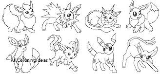 Coloring Pages Lock Screen All With Eeveelutions Pokemon Eevee