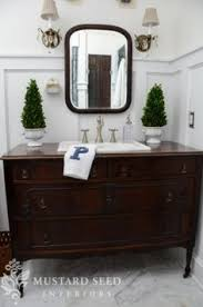 bathroom vanities vintage style. Turn A Vintage Dresser Into Bathroom Vanity : Decorating HGTV (miss Mustard Seed) Vanities Style