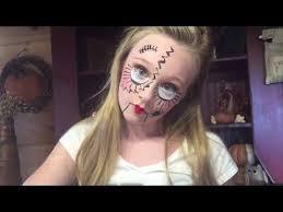 12 40 creepy doll face makeup diy how to with princess ella