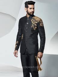 Groom Suit Designs India Raw Silk Bandhgala Jodhpuri Suit Designer Suits For Men