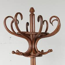 french bentwood thonet style hat and coat rack or hall tree circa 1930 in excellent