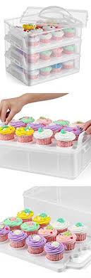 36 Cupcake Carrier Awesome Stackable Cupcake Carrier Flexzion Cupcake Carrier Holder Container
