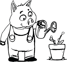 Three Little Pigs Coloring Pages Printable Coloring Pages Of Pigs 3