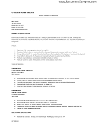 Sample Resume For Fresh Graduate Gorgeous New Graduate Nursing Resume Examples Adorable Collection Of