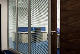 integral blinds office fixed glass