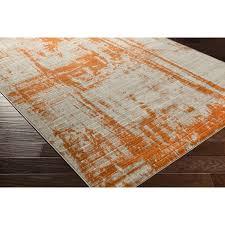 ferrint orange area rug reviews allmodern in plans 1