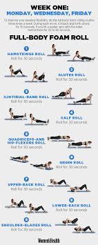 One Week Full Body Foam Roal Fullbody Workout Exercises