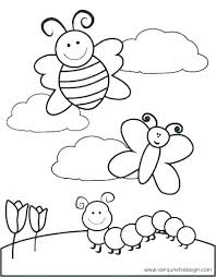 Free Printable Spring Coloring Pages For Toddlers Preschoolers Kids