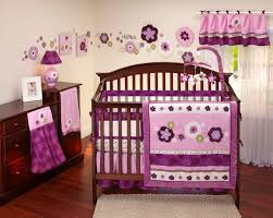 cute ideas baby nursery room decoration with carters baby bedding set enchanting pink purple girl