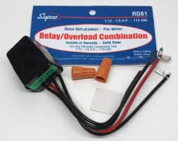 r supco refrigerator relay overload for hp r081 supco refrigerator relay overload for1 12 1 5 hp compressors 115 volts