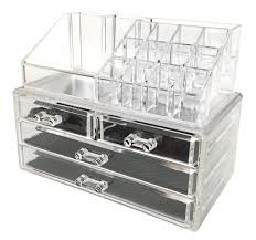 amazon sodynee jewelry and cosmetic storage 2 piece acrylic makeup organizer home kitchen