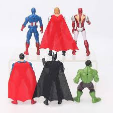 Online Shop <b>6pcs</b>/<b>set</b> 10cm The <b>Avengers</b> figures super hero <b>toy</b> ...