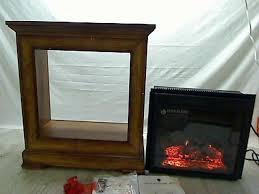 oak fireplace mantle w febo flame electric heater