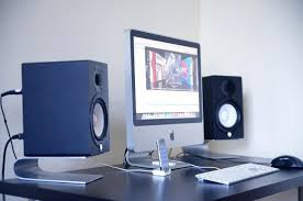 diy wood studio monitor stands yamaha monitors google search intended for desk decor 1
