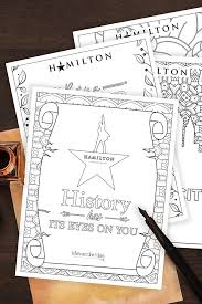 Free printable coloring pages for kids! Hamilton Coloring Pages For Adults And Kids