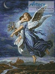 Angel Cross Stitch Patterns Awesome The Guardian Angel Cross Stitch Pattern Angels
