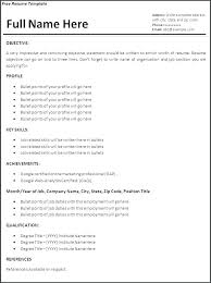 Work Experience Resume Examples Sample Resume With No Work