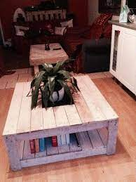 diy pallet coffee table with planter