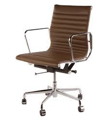 bedroommarvellous leather desk chairs office. The Matt Blatt Replica Eames Group Aluminium Chair Cf 035 Standard Light Brown Desks Office Chairs Bedroommarvellous Leather Desk E